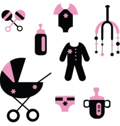 baby stuff vector image