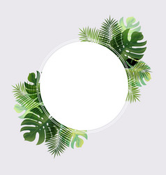 ball banner with leaf palm vector image