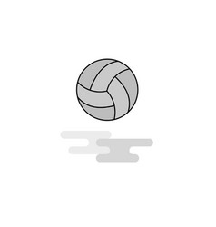 basketball web icon flat line filled gray icon vector image