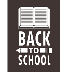 book and pencil icon Back to school design vector image