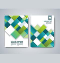 brochure title sheet polygonal construction vector image
