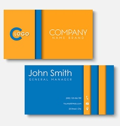 business cards templates in the style vector image