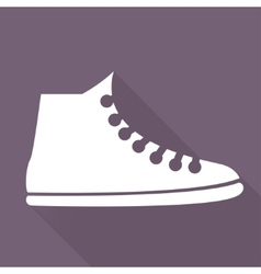 Casual keds gym shoes icon vector image