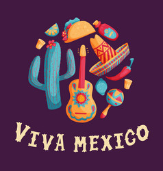 cinco de mayo mexican set vector image