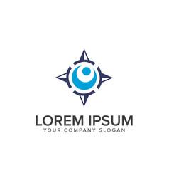 compass logo design concept template vector image