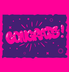 Congratulation congrats greeting card flyer poster vector