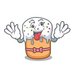 crazy easter cake mascot cartoon vector image