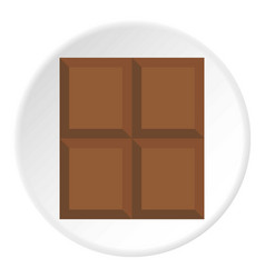 Dark milk chocolate bar icon circle vector