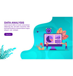 data analysis concept with character template for vector image
