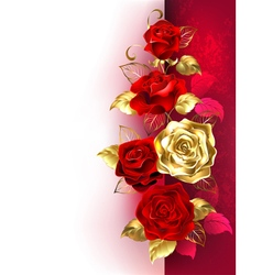 Design with red roses vector