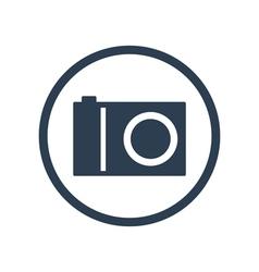 Digital camera flat icon vector