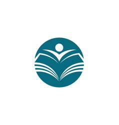 education logo template vector image