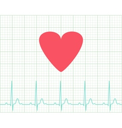 Ekg - medical electrocardiogram vector