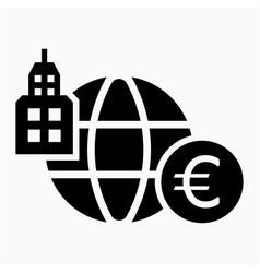 Euro multinational icon vector