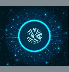 Fingerprint scanning system of prints recognition vector