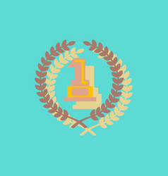 First place icon golden number one symbol vector