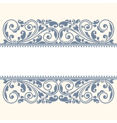 Floral pattern for invitation or greeting card vector