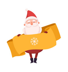 funny smiling santa claus cute christmas and new vector image