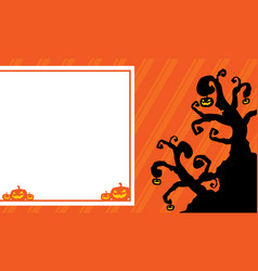 halloween background for greeting card vector image