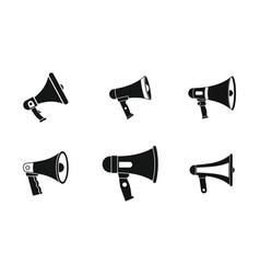 handspeaker icon set simple style vector image