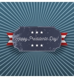 Happy Presidents Day big realistic greeting Card vector image