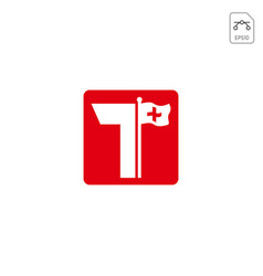 Initial t logo design for business company vector
