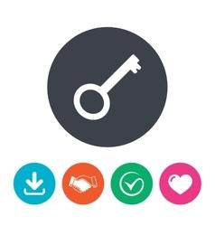 Key sign icon Unlock tool symbol vector image