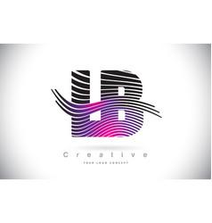 Lb l b zebra texture letter logo design vector