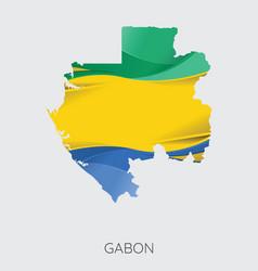 map of gabon vector image