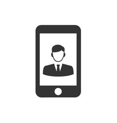 Mobile business icon vector
