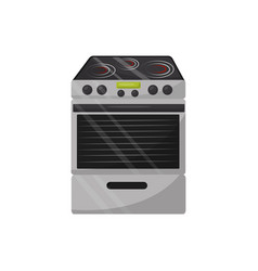 modern electric stove with oven kitchen appliance vector image