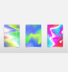 Modern holographic foil background minimal covers vector