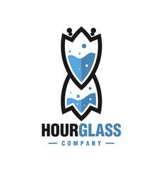 modern hourglass logo vector image