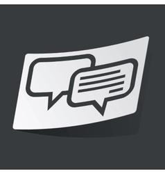 Monochrome chatting sticker vector