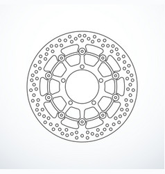 Motorcycle brake disc isolated vector