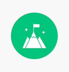Mountain flag user interface vector