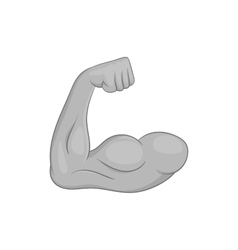 Muscular arm icon black monochrome style vector image vector image