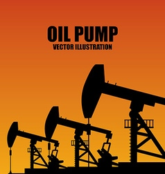 Oil Pump design vector image