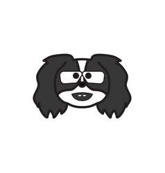 pekingese emoji botanist multicolored icon signs vector image