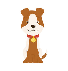 Pet shop icon cute little dog pet accessory vector