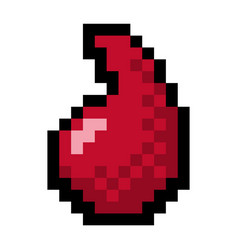 pixel blood droplet - isolated vector image