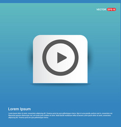 play icon - blue sticker button vector image