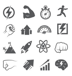 power icons on white background vector image