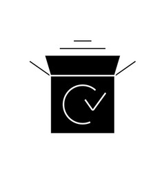 product launch black concept icon product vector image