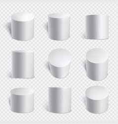 realistic cylinders set vector image