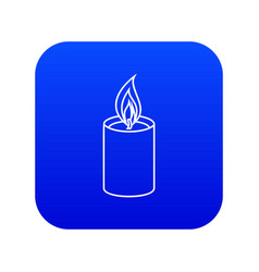 Romance candle icon blue vector
