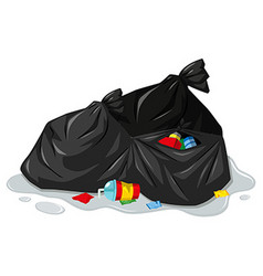 Rubbish bags and dirty trash vector image