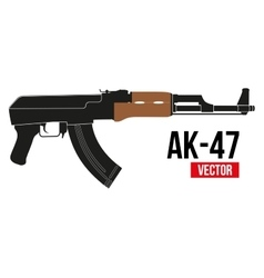 ak 47 vector images over 130 rh vectorstock com ak 47 vector png ak47 vector
