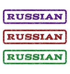 russian watermark stamp vector image