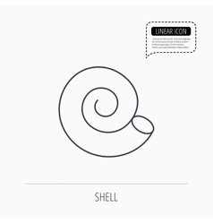 Sea shell icon Spiral seashell sign vector